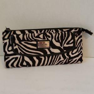 Nicole Miller zebra wallet